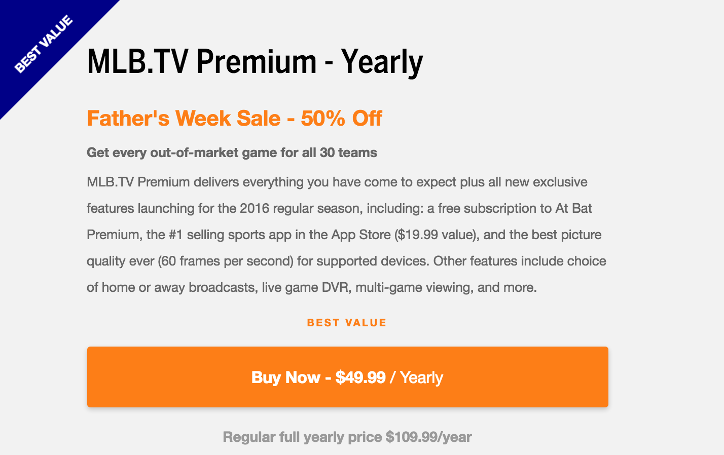 Get MLB TV for 50% Off - Watch Your Favorite Team(s) Wherever You Go