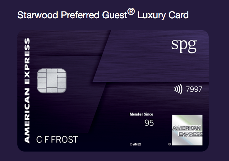 The Brand New Amex SPG Luxury Credit Card Link Is Live!